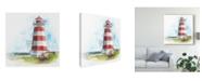 "Trademark Global Naomi Mccavitt Watercolor Lighthouse I Canvas Art - 20"" x 25"""