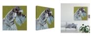 """Trademark Global Dlynn Roll Dlynns Dogs Zoee Canvas Art - 20"""" x 25"""""""