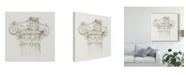 "Trademark Global Ethan Harper Column Schematic II Canvas Art - 20"" x 25"""