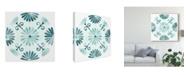 """Trademark Global June Erica Vess Aqua Medallions I Canvas Art - 20"""" x 25"""""""