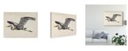 "Trademark Global Melissa Wang Blue Heron Rendering III Canvas Art - 15"" x 20"""