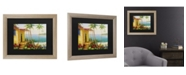 "Trademark Global Masters Fine Art Key West Villa Matted Framed Art - 27"" x 33"""