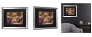 """Trademark Global Claude Monet A Pathway in Monet's Garden Matted Framed Art - 20"""" x 25"""""""