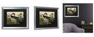 "Trademark Global John James Audubon Louisiana Heron Matted Framed Art - 20"" x 25"""