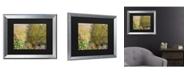"""Trademark Global Claude Monet Corner of the Garden at Montgeron, 1876 Matted Framed Art - 20"""" x 25"""""""