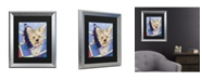 """Trademark Global Pat Saunders-White Claire Matted Framed Art - 20"""" x 25"""""""