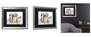 "Trademark Global Pat Saunders-White The Gang Matted Framed Art - 20"" x 25"""