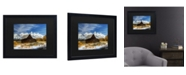 "Trademark Global Pierre Leclerc Iconic Barn Grand Teton Matted Framed Art - 15"" x 20"""