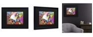 """Trademark Global Pat Saunders-White Cold Hands Matted Framed Art - 15"""" x 20"""""""
