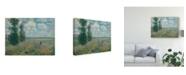 """Trademark Global Claude O. Monet Poppy Fields Near Argenteuil Canvas Art - 37"""" x 49"""""""