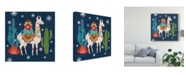 "Trademark Global Mary Urban Lovely Llamas Ii Christmas Canvas Art - 27"" x 33"""