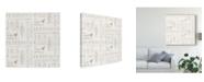 "Trademark Global Danhui Nai Maison Des Fleurs Pattern V Canvas Art - 27"" x 33"""
