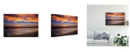 "Trademark Global Pixie Pics Orange Coast Canvas Art - 37"" x 49"""