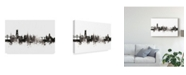 "Trademark Global Michael Tompsett Fribourg Switzerland Skyline Black White Canvas Art - 37"" x 49"""