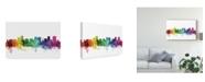 "Trademark Global Michael Tompsett Orlando Florida Skyline Rainbow Canvas Art - 20"" x 25"""