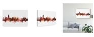 "Trademark Global Michael Tompsett Fribourg Switzerland Skyline Red Canvas Art - 37"" x 49"""