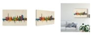"Trademark Global Michael Tompsett Northampton England Skyline Canvas Art - 37"" x 49"""