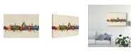 "Trademark Global Michael Tompsett Winchester England Skyline Canvas Art - 20"" x 25"""