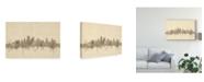 "Trademark Global Michael Tompsett Kansas City Missouri Skyline Sheet Music Canvas Art - 37"" x 49"""
