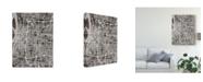 "Trademark Global Michael Tompsett Memphis Tennessee City Map Black Canvas Art - 20"" x 25"""