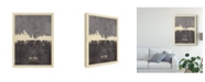 "Trademark Global Michael Tompsett New York Skyline Gray Canvas Art - 20"" x 25"""