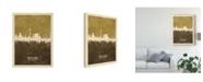 "Trademark Global Michael Tompsett Dusseldorf Germany Skyline Brown Canvas Art - 37"" x 49"""