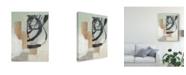 "Trademark Global Jennifer Goldberger Spiral Slice I Canvas Art - 37"" x 49"""