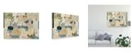 "Trademark Global Sandy Lloyd Postcards of Paris I Canvas Art - 20"" x 25"""