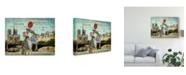 "Trademark Global Sandy Lloyd Postcards of Paris VI Canvas Art - 20"" x 25"""