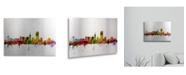 "Trademark Global Michael Tompsett San Francisco City Skyline Floating Brushed Aluminum Art - 22"" x 25"""