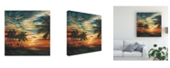 "Trademark Global Carolee Vitaletti Stunning Tropical Sunset I Canvas Art - 27"" x 33"""