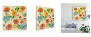 "Trademark Global Silvia Vassileva Playful Floral Trio III Canvas Art - 15"" x 20"""
