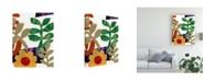 "Trademark Global Regina Moore Fiesta Floral II Canvas Art - 37"" x 49"""