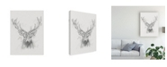 "Trademark Global Ethan Harper Contemporary Elk Sketch I Canvas Art - 15"" x 20"""