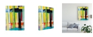 "Trademark Global Jodi Fuchs Intersecting Colors I Canvas Art - 20"" x 25"""
