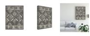 "Trademark Global June Erica Vess Mud Cloth Patterns III Canvas Art - 20"" x 25"""
