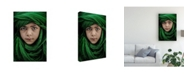 "Trademark Global Saeed Dhahi Green Boy Canvas Art - 37"" x 49"""
