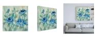 "Trademark Global Silvia Vassileva Brushy Blue Flowers II Canvas Art - 15.5"" x 21"""