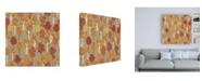 "Trademark Global Laura Marshall Harvest Village Pattern VIII Canvas Art - 19.5"" x 26"""