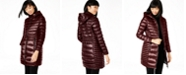 Calvin Klein Petite Hooded Packable Puffer Coat, Created for Macy's