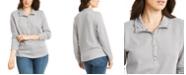 Karen Scott Petite Snap-Neck Top, Created for Macy's
