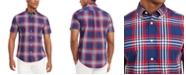 Tommy Hilfiger Men's Custom-Fit Zamora Plaid Short Sleeve Shirt, Created for Macy's