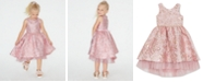 Rare Editions Little Girls Brocade Fit & Flare Dress