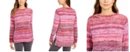 Style & Co Petite Crewneck Chenille Sweater, Created for Macy's
