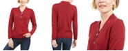 Karen Scott Cotton Marled Henley Sweater, Created for Macy's