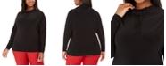 Anne Klein Plus Size Funnel-Neck Pullover Top
