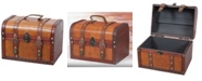 Vintiquewise Decorative Leather Small Treasure Box Collection