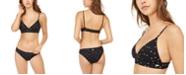 Roxy Juniors' Water Heart Printed Triangle Bikini Top & Water Heart Printed Hipster Bikini Bottoms
