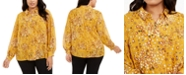 Alfani Plus Size Printed Blouse, Created for Macy's