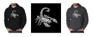LA Pop Art Men's Word Art Hooded Sweatshirt - Types of Scorpions